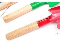Домохозяйственные лопаты для лопата с деревянной ручкой Железный шпатель Садовничая горшечные гаджеты пляж RRF8350