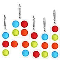 Tetris Toys Toys Keychain Pop Fidget Poussez Bubble Board Jeu Sensory Simple Silicone Puzzle Jouet Autisme Anxiété Stress Stress Stress Relever Cadeaux H317JXF
