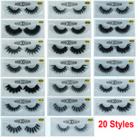 3D False Eyelashes Faux Mink Lashes 20 Styles Dramatic Long Thick Curl Natural Extension 5D Eyelash Handmade Wispy Fluffy Eye Makeup Beauty Tools