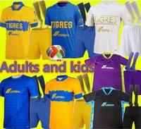 Adulte Kit Kit 22 Uanl Tigres 7 étoiles gardien de but Soccer Jerseys 20 21 Gignac Vargas Camiseta Maillot Home Away Third Mexico Football Shirts