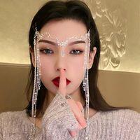 Strass brillant élégant Tassel Tassel Hairwear Waterdrop Cristal Retro Hairban Chinois Style Chinois Accessoires pour femmes Clips Barrettes