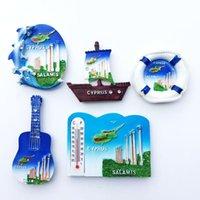 Fridge Magnets Europe 3D Cyprus Flavour Magnet Tourist Souvenirs Refrigerator Magnetic Decoration Articles Collection Handicraft Gift