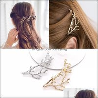 & Barrettes Jewelry Jewelryvintage Gold Tree Hair Clips Girls Alloy Branch Hairpins Fashion Hairgrips Lady Elegance Metal Aessories For Wome