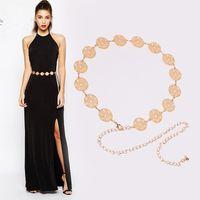 Metal 20 hollow circle decoration waist chain dress belt women's fashion accessories