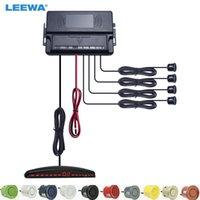 Автомобильные камеры заднего вида Камеры Паркинг Датчики для парковки Leewa Auto 22mm 4-датчик датчик обратный резервный радар с светодиодным дисплеем системы помощи 10-цветной выбор # CA2