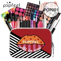 Popfeel Beginner Makeup Gift Sets 24pcs In One Bag Eye Shadow Lipgloss Lip Stick Blush Concealer Cosmetic Make Up Collection