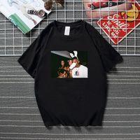 CashCarti Playboiki Carti Vintage Esthétique Hommes T-shirt Été Sommet à manches courtes Coton Coton T-shirt T-shirt Rap Music Streetwear