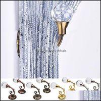 Hooks Storage Housekee Organization Gardenhooks & Rails 1 Pair Metal Crystal Glass Curtain Wall Tie Back Hanger Holder Rods Aessories For Ho