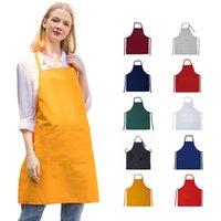 Grembiuli di consegna veloce Colore semplice in bianco Colore solido per la cucina maschile cucina cucina cucina