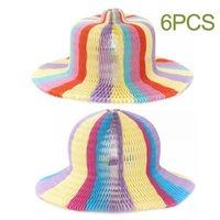 6pcs vase magique bouchon variété de papier chapeau de chapeau de chapeau pour hommes et femmes filles garçons beatshade sport sport chapeaux casquettes en plein air