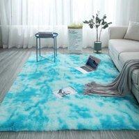 Carpets 40*60cm Non-slip Floor Mat Gray Carpet Tie Dyed Plush Living Absorbent Soft Bedroom Room H3Q1