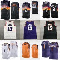 2021 Devin 1 Booker Basketbol Jersey DeAndre 22 Ayton Chris 3 Paul Formalar Retro Mesh Steve # 13 Nash Charles 34 Barkley Erkek Gençlik Çocuklar