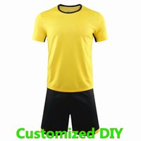 DIY مخصصة فارغة جيرسي فريق المدارس مخصص لطلب نفسك اسم عدد قمصان كرة القدم الرجال أطقم الزي 002