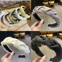 ファッションヘアアクセサリー広い光沢のあるレースの織り毛バンド編組ヘッドバンドヘアフープベゼルヘッドドレス2707 Y2