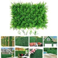 Decorative Flowers & Wreaths Home Decoration Artificial Plant Lawn Grass Fake Wall Garden Outdoor Interior Wedding Party Background