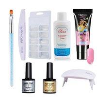 Nail Art Kits Nails Decorations Set With UV Lamp Base Coat Top Brush Drill DIY Gel Polish Kit S1