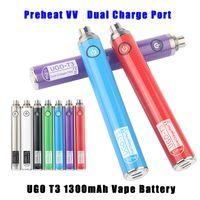 Ecigarette Vape Bolígrafos Visión de la batería Ugo T3 EGO C EVOD Twist Ajustable PRECIO DE PRECIO VARIABLE 1300mAH Vaporizador