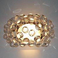 Wandleuchten Einfache Moderne Acryl Ionenlampe Kristallperlenlichter für Schlafzimmer Zeus Sweat Caboche Sconcces Clear / Amber