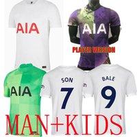 21 22 Kane Son Bale Bergwijn Tottenham Dele Soccer Jerseys 2021 2022 Lucas Dele Football Kit Chemise Bale Ndombele Tops Enfants Ensembles Uniformes avec chaussettes