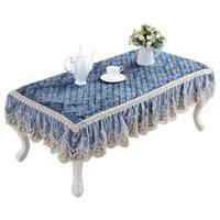 Europeu Royal Lace Lace Table Table Jantar Velvte Chá Toalha de Chá Quilted Mat Capa