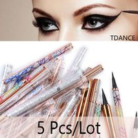 False Eyelashes 5Pcs Lot 2 In 1 Waterproof Long Lasting Eye Pencil Wholesale Eyelash Glue Eyeliner Pen Liquid Liner Lash Adhesive