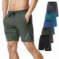 Men's Shorts Solid Color Sports Pants Quick-drying Mens Running Fitness Summer Thin Casual