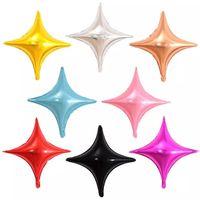 10-дюймовый четырехконечная звезда алюминиевая фольга шар украшения украшения свадьбы день рождения дети поставляет воздушные шары детская душ девушка WLL569