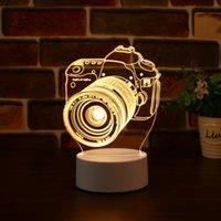 LED 3D Night Light Party Hoods USB Акриловая Настольная Лампа Спальня Пульт дистанционного управления Ночной Легкий Креативный День Рождения Подарок Топ Продажи
