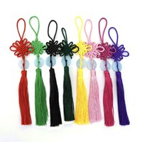 8 Colors Lucky Chinese Knots Pretty Jade Decor DIY Plait Handicraft Hanging Accessories Fashion Interior Decorations