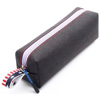 Pencil Bag Male and Female Primary Secondary School Students Large Capacity Multifunctional Pencil Stationery Storage Square