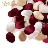 بتلات روز الحرير بورجوندي لون الذهب زهرة لحفل الزفاف فتاة سلة، طاولة الطعام، تزيين الكعكة (300pcs) إكليل الزهور الزخرفية