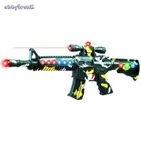 Abbyfrank Electronic Infrared Sound Shock Wave Toy Gun Flashing Outdoor Game Props Plastic Toys For Children Srma De Brinquedo