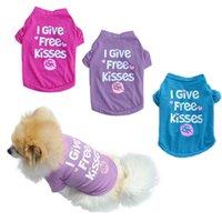 Haustier Sommerkatze und Hund Kleidung Kleidung Reine Baumwolle Englisch Druck Weste T-Shirt