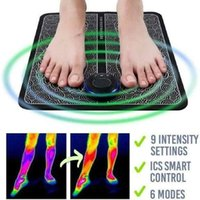EMS الكهربائية قدم مدلك وسادة قدم العضلات مشجعا الساق إعادة تشكيل تدليك حصيرة تخفيف آلام آلام الرعاية الصحية قطرة عصابات المقاومة