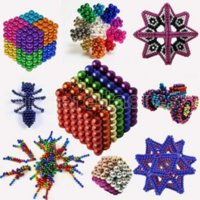 DIY Metal Neodymium Magic 5mm Magnet Magnetic Balls Blocks Cube Construction Building Toys Colorfull Arts Crafts Toy Over 496