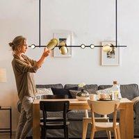Modern LED Demir Kristal Avize Mutfak Yemek Bar Nordic Işık Ev Aydınlatma Yatak Odası Salon Avizeler