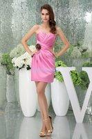 Bridesmaid Dress Modest 2021 Design Straps Custom Size Plus Handmade Flower Sexy Gown Short Pink