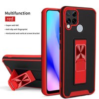 Rugged Armor Shockproof Clear Phone Cases For OPPO Find X3 Pro Realme Narzo 30A 20 C21 C20 C17 C15 C12 C11 Magnetic Holder Ring Stand
