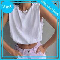Suchcute 2021 Verão Casual Solta Mulheres Muscular Tee Streetwear Coreano Cor Sólida T-shirt Básico para Feminino Harajuku Crop Tops