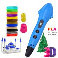 LED Display 3D Printer Printing Pen With 12 Colors 1.75mm PLA Filament Arts Drawing Painting Pens Gift for Kids
