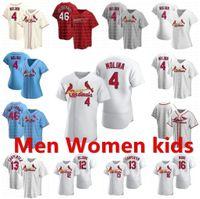 20 21 homens cardeais mulheres crianças beisebol paul goldschmidt yadier molina matt carpinteiro dejong carlos martinez marcell ozuna jerseys