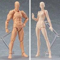 13 cm figura de acción juguetes artista movible macho hembra conjunto figura pvc cuerpo figuras modelo maniquí arte dibujo estatuilla