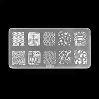 Nail Art Kits Stamp Stencil Stamping Template Plate Set Random Design Tool And Kit Stickers Scraping Stamper P9Y2