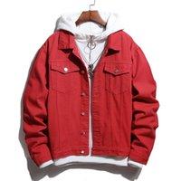 트렌드 데님 자켓 착용 캐주얼 작업 코트 브랜드 남성용 봄과 가을 자켓