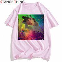 Vaporwave T Shirt Harajuk Tops T Gömlek Erkekler / Kadınlar Retro Anime Erkekler Grunge Estetik Moda Japon Tee Gömlek Tişört Erkek / Kadın I8I #