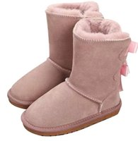 2022 Winter Australia Baby Snow girls childrens boots Style Cow Suede Leather Waterproof Winter Cotton boots Warm boots shoes kids 21-35