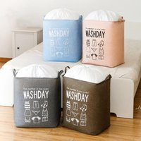 Schmutzige Kleiderkorb Faltbare Wäsche Aufbewahrungskörbe High Capacity Warehouse Tasche Wasserdichte Home Sundries Barrel DWB7464