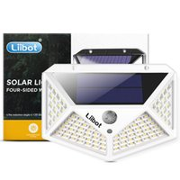 Luzes solares ao ar livre 100 LED Lâmpada Power Wall Light Motion Sensor Projeto de Jardim À Prova D 'Água