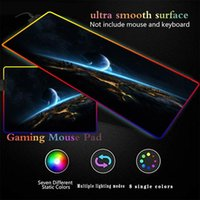 Mouse Pads & Wrist Rests Mairuige Space Earth Gaming Large RGB LED Computer Mause Pad XXL Mousepad Gamer Keyboard Carpet Desk Mat PC Game