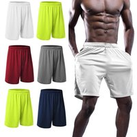 2021 Mens Yoga Shorts Estilo de Verão Homens Casual Sólido Sportswear Quick Seco Color Calças Curtas Moda Calças Esporte Calças Corredores